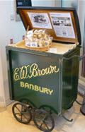 Barrow used by E W Brown to sell his Original banbury Cakes